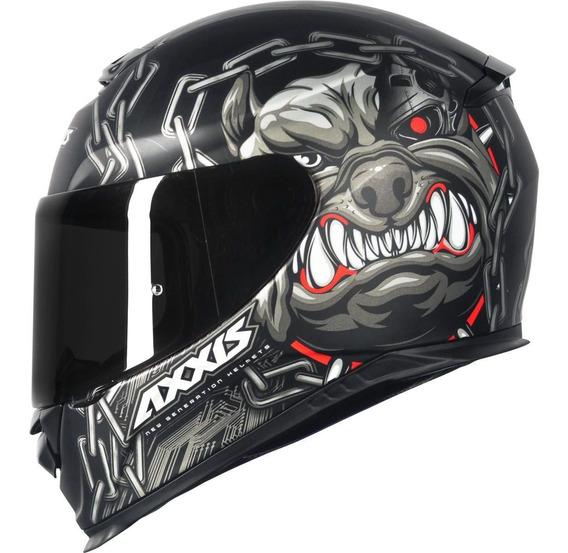 Capacete Moto Speedy Axxis Eagle Bull Cyber Matt Black/ Grey