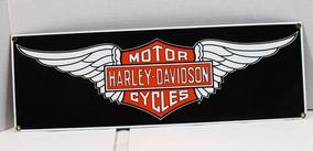 Placa Decorativa - Harley Davidson - Wings Ande Rooney 1409