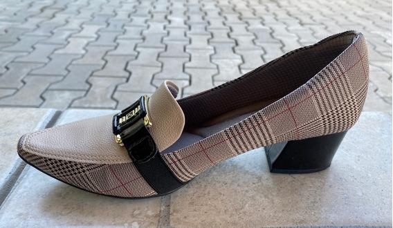 Sapato Scarpin Xadrez Forrado N 38 - Piccadilly