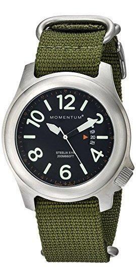 ¿hombres Momentum? Reloj De Cuarzo. Acero Inoxidable Pulido