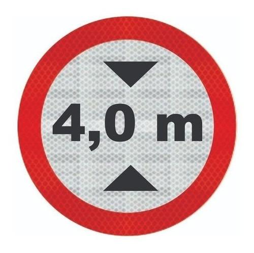 Imagem 1 de 3 de Placa R-16 C/ Adesivo Tipo I Largura Máxima Permitida