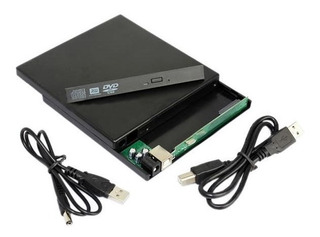 Gabinete Externo Adaptador Usb Sata Notebook Cd Dvd Rw