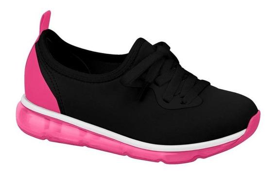 Tênis Casual Fashion Molekinha Pink Preto 2521.102