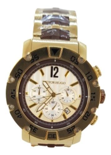 Relógio Masculino Dourado Victor Hugo Vh10093gsg/01m