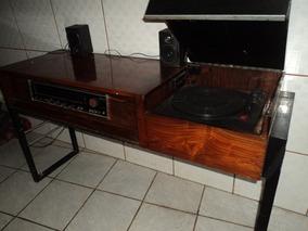 Raridade /escrivaninha Antiga /c/som Vitrola / Radio /retira