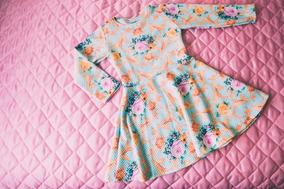 Vestido Infantil Neoprene /coton/ Elanca
