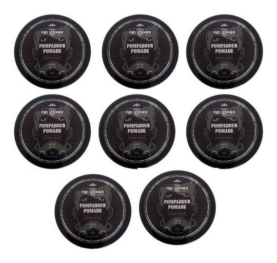 Kit Pomada Extra Forte Cabelo Pompadour Fuel4men 8 Unidades