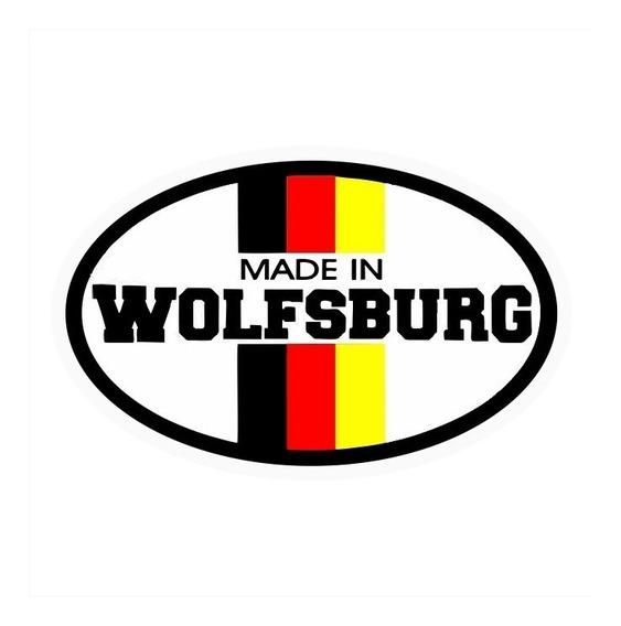 Adesivo Wolfsburg Made In Carro Retro Vintage Kit12pcs
