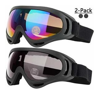 Gafas De Esquí Cooloo, Paquete De 2, Gafas De Snowboard Para
