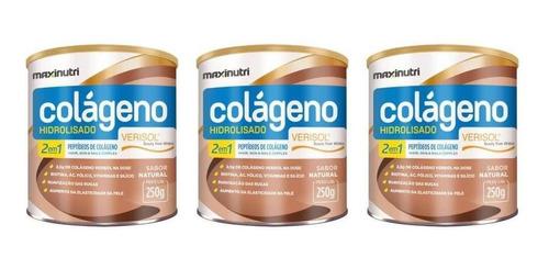 Imagem 1 de 1 de Maxinutri Colágeno Hidrolisado 2em8 Verisol 250g (kit C/03)