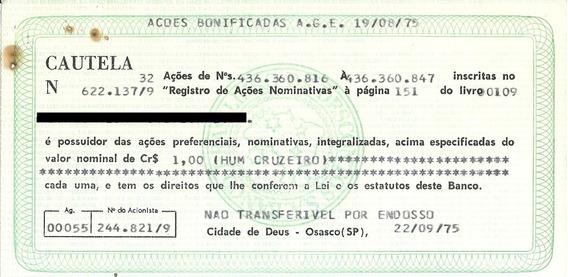 Apólice Banco Brasileiro De Descontos S/a Osasco Sp