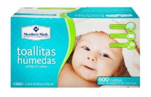 Imagen 1 de 2 de Toallitas Húmedas Member's Mark 6 Paquetes De 100 Pzas