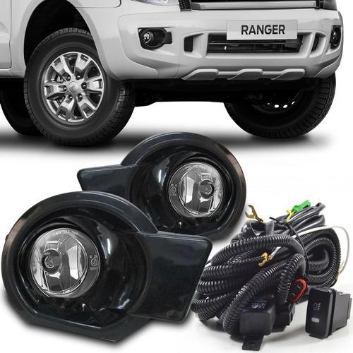 Kit Faros Niebla Ranger 2012 2013 2014 2015 2016 Negro Ford