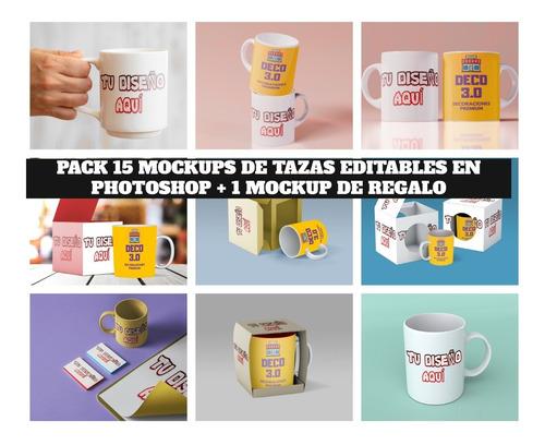15+1 Mockups Tazas Editables En Photoshop + Video De Muestra