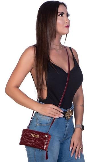 Bolsa Clutch Feminina Croco Istambul S/ Juros Promoção Black