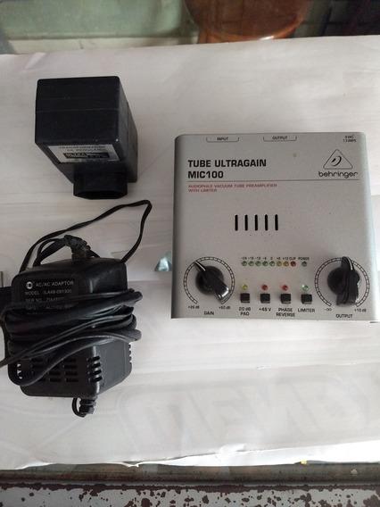Pre Amplificador Tube Ultragain Mic 100 Behringer