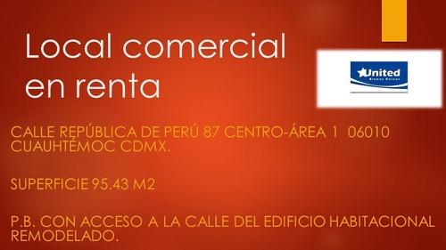 Imagen 1 de 8 de Local Comercial Centro Historico 98m2