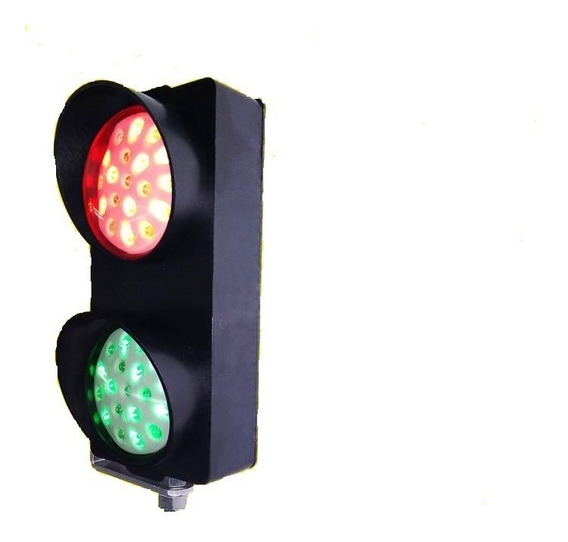 Semaforo Pequeno 19 Led 80mm Verde Vermelho Bivolt