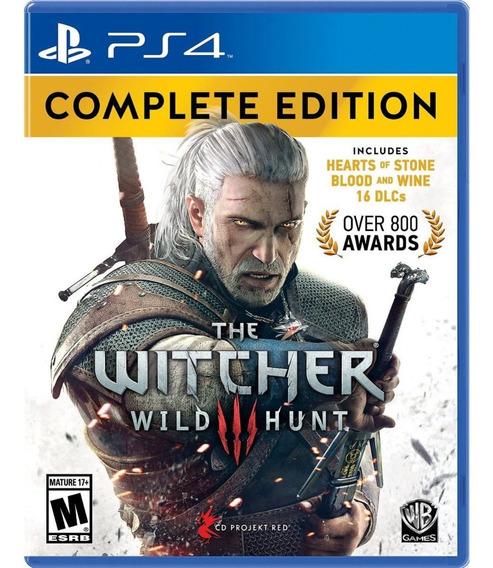 Jogo The Witcher 3 Wild Hunt Complete Edition Ps4 Midia Fisica Original Novo Lacrado Dublado Português Br Promoção