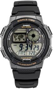Reloj Casio 5 Alarmas Hora Mundial Bat 10a Ae-1000w-1avcf