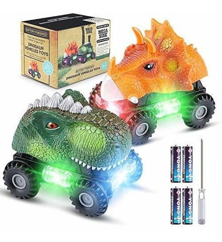 Magicfun 2 Pack Dinosaur Cars, Divertidos Juguetes De Dinosa