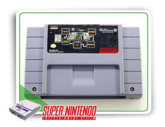 Williams Arcades Greatest Hits Super Nintendo Snes Original