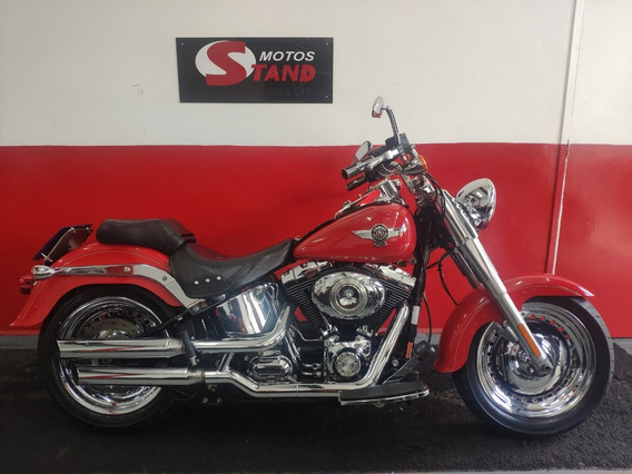 Harley Davidson Softail Fat Boy Flstf Abs 2011 Vermelha