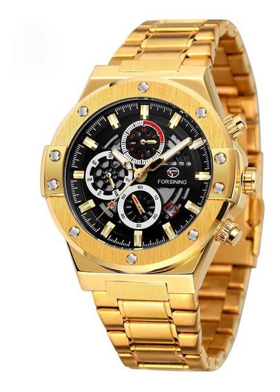 Reloj Hombre Forsining Automático Acero Inox Fecha Sumergibl