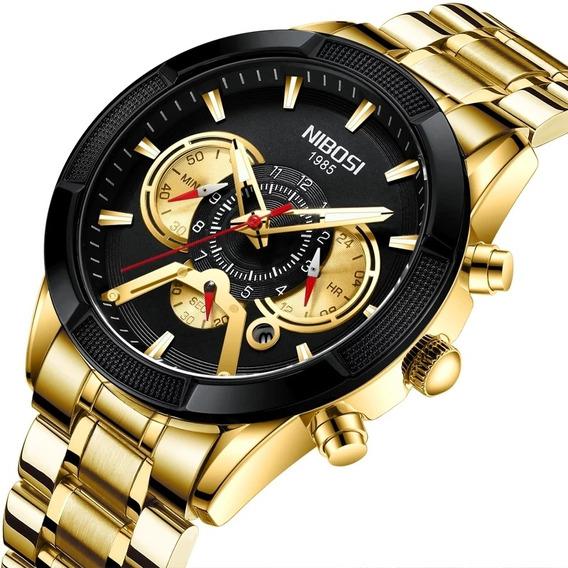 Relógio Nibosi Masculino Original Ante-risco Blindado