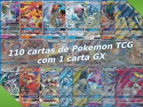 Promoção - Lote De 110 Cartas De Pokemon Tcg + 1 Carta Gx