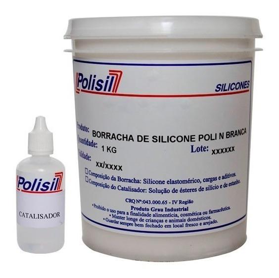 Borracha De Silicone Branca P/ Moldes C Catalisador 1,030 Kg