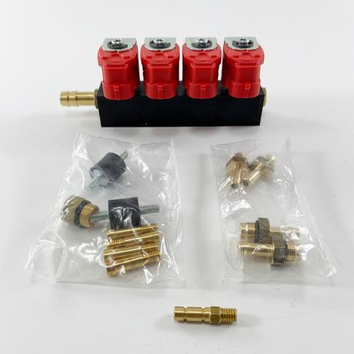 Imagen 1 de 7 de Rampa Inyectores Repuesto Gnc 5ta Valtek Tipo 30 4 Cilindros
