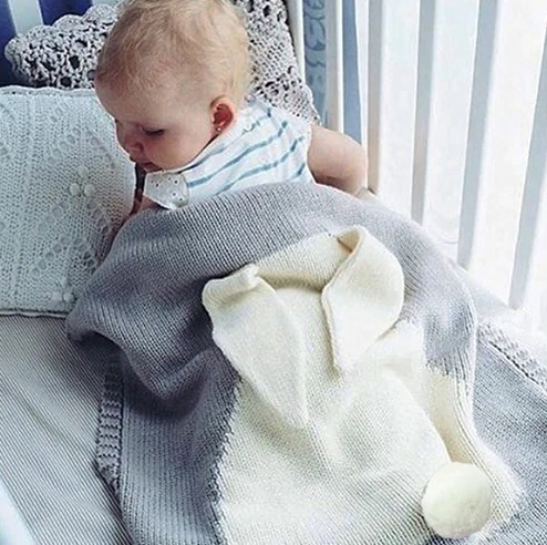 Manta Coelho Enxoval Do Bebe Lã Antialérgica - Cinza