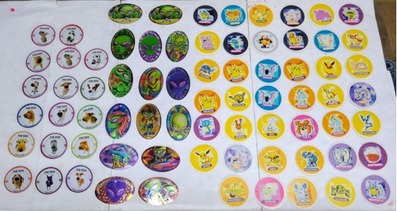 Lote Tazos Pepsico Dog Pokemon Alien