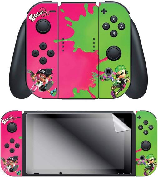 Skin Oficial Nintendo Mod Splatoon 2 P/ Joy Con + Pelicula