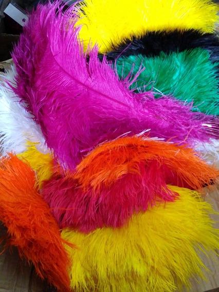 Plumas De Colores Para Cotillón Carnaval Y Espectaculos
