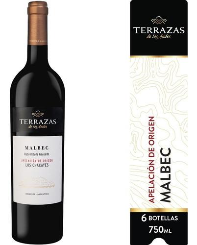 Imagen 1 de 5 de Vino Terrazas De Los Andes Apelación Los Chacayes 6ux750ml