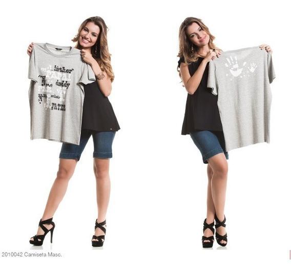 Camiseta Para Papai Cinza P/m/gg - Moda Gestante Due Vita