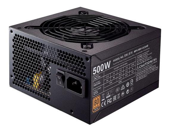 Fonte Atx 500w 80plus Bronze Cooler Master Mpx-5001-acaab-wo