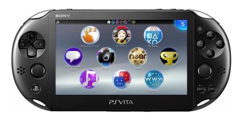 Imagem 1 de 4 de Sony PS Vita Slim 1GB Standard cor  black