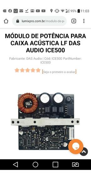 Amplificador D.a.s. Ice500a Para Caixa Ativa Das Ca-28a