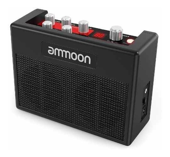 Ammoon Portátil Guitarra Amplificador 5 Watt, 80 Pre-sets B