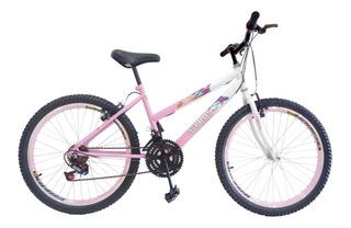Bicicleta Aro 26 Feminina 18 Marchas C/ Aros Aero