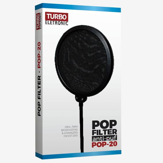 Anti-puff Pop Filter Pop-20 Turbo Pescoço De 380 Mm