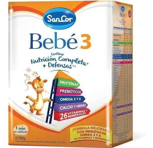 Leche Sancor Bebe 3 (1 A 3 A) Nutricion Completa Pvo 800 Grs
