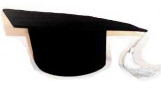 Capelo Formatura Graduação Infantil Ajustável Preto