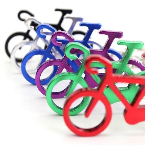 Pack 12 Llaveros Bicicleta Aluminio Colores Variados