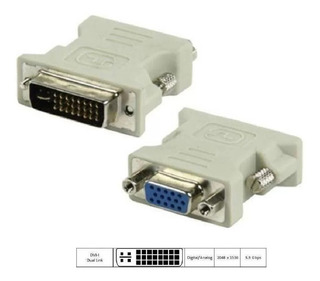 Kit 10 Adaptador Dvi I(24+5)macho/ Db15 Hd Vga Femea