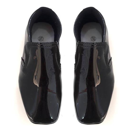 Sapato Social Preto Masculino Infantil Menino- 014011