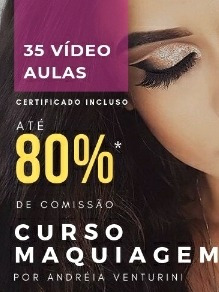 Imagem 1 de 1 de Curso De Maquiagem Com Certificado.